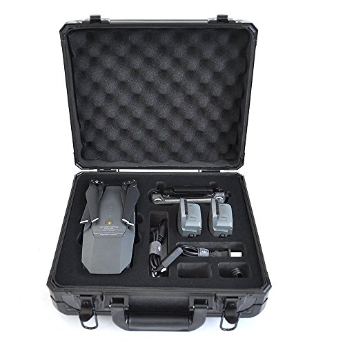 Ultimaxx Water Resistant Hard Aluminum Travel Carry Case for DJI Mavic Quadcopter Drone and Accessories ()