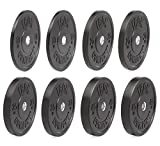 IRON COMPANY Premium Black Virgin Rubber Olympic Bumper Plate 230 lb. Set for Crossfit Workouts and Olympic Weightlifting - IWF Specifications
