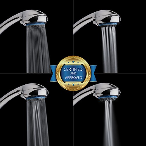 Hand Shower Head Handheld Shower-High Pressure With Bracket And Hose For Bathroom 8 Function Luxury Spa Chrome Adjustable Detachable Full Flow Massage Rain Waterfall For The Ultimate Shower Experience by Showerstorm (Image #1)