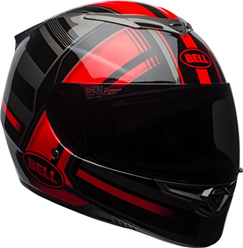 Bell RS2 Full-Face Motorcycle Helmet (Gloss Red/Black/Titanium Tactical, Large)