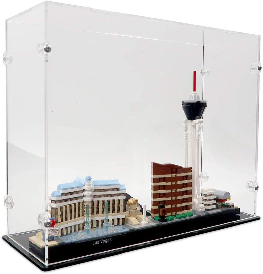 Vetrina Antipolvere per Modellismo Collezionismo Solo Vetrina 21310 iCUANUTY Vetrina in Acrilico per Lego Ideas Vecchio Negozio dei Pescatori