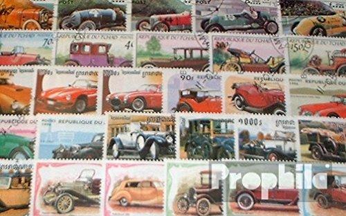 Prophila Collection Motive 100 verschiedene Oldtimer Autos Marken Stra/ßenverkehr Briefmarken f/ür Sammler