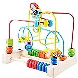 wangwtry Children Toddler Wooden Beads Maze Game Roller Coaster Education Toys for Early Develpment,Kids Boys Girls Still Improvement