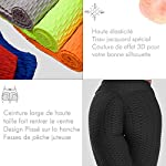 FITTOO-Legging-Jacquard-Donna-Sport-Legging-Rete-da-Pesca-Fitness-Vita-Alta-V-per-Yoga-Palestra-Fitness-Pantaloni-Push-up