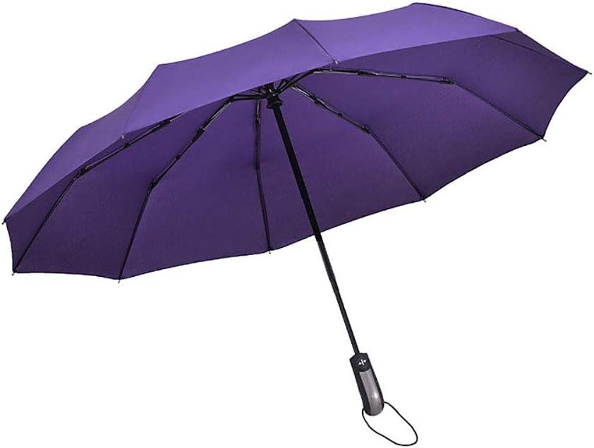 Colorido Portable Rain Sun Umbrella Folding Automatic Umbrella Windproof Travel Parasol for Men Women Black
