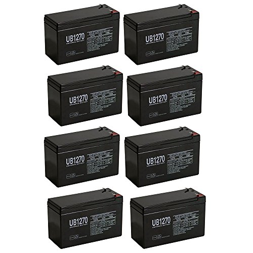 12V 7Ah SLA Battery for Altronix AL175ULX - 8 Pack (Power Al175ulx Supply)