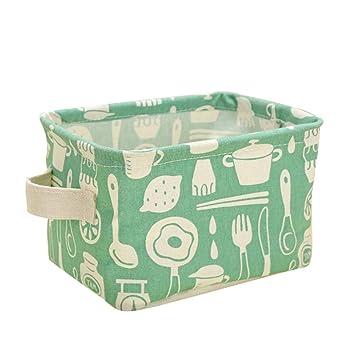 Hunpta@ - Cubertería Cuadrada Plegable de Lino y algodón, Caja de Almacenamiento de desechos: Amazon.es: Hogar