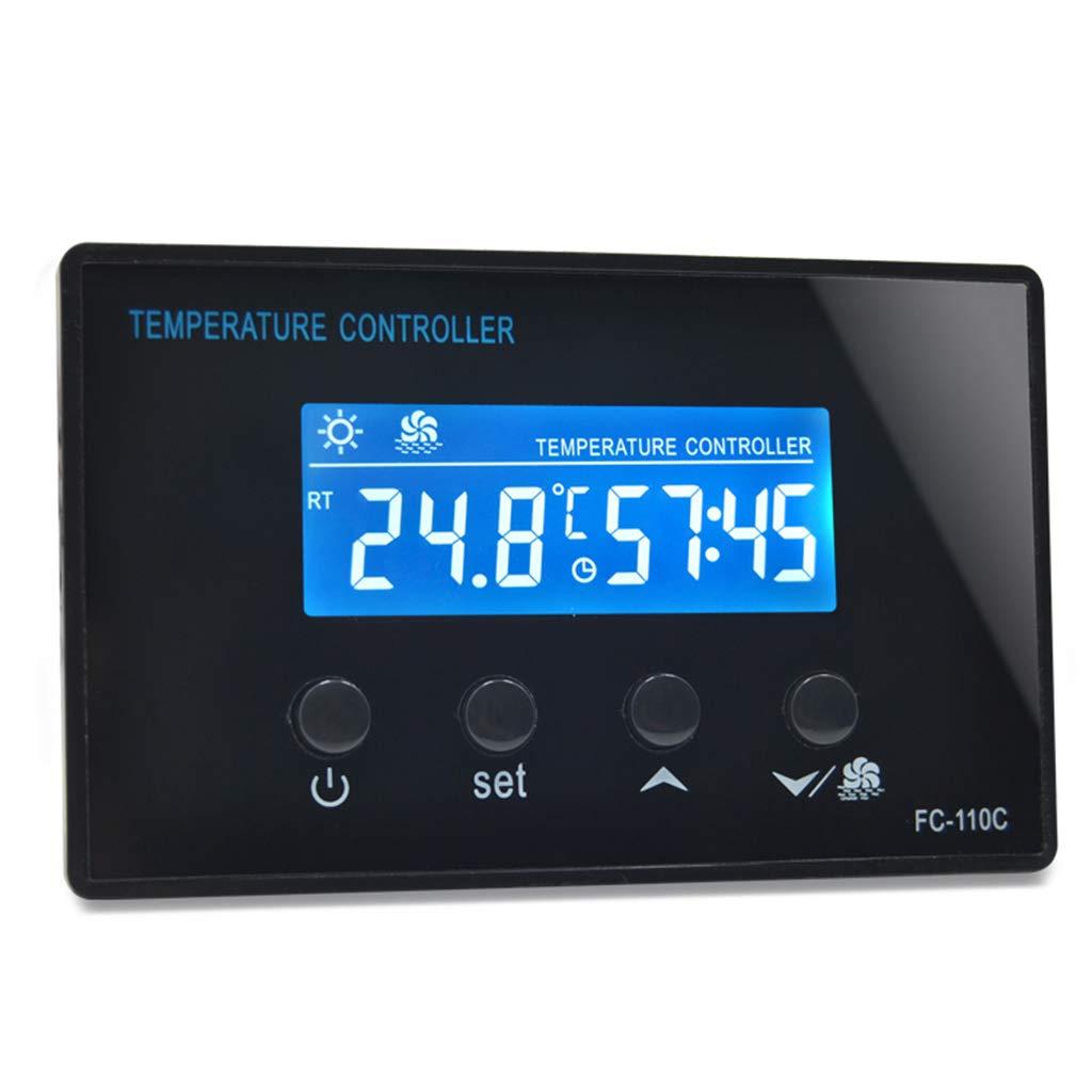 Termostato Digital para Sauna 220V 10A Temporizador Controlador de Temperatura con Sensor NTC Junlinto