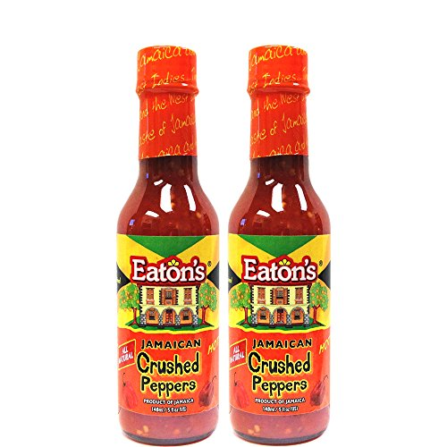 Eaton's Jamaican Crushed Peppers 5oz (Pack of 2)