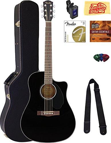 Fender CD-60SCE Dreadnought Acoustic-Electric Guitar - Bl...