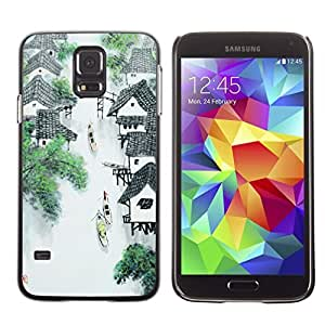 Graphic4You Chinese Painting Design Hard Case Cover for Samsung Galaxy S5