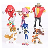 Sonic The Hedgehog Figures Toys - 6 Pcs Set Action Characters 6cm