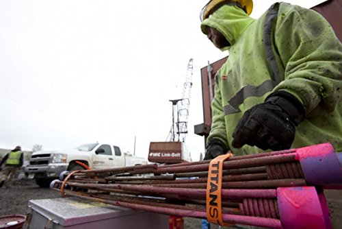 25, Fluorescent Orange Titan Straps Pack of 2 Working Load 60-lb