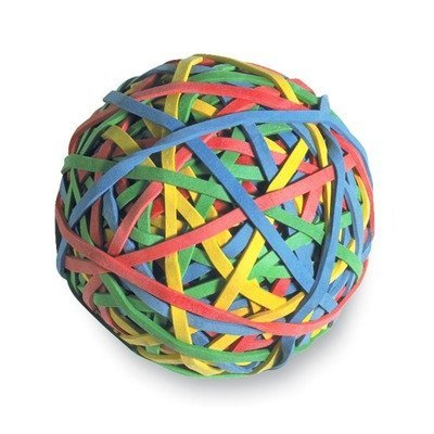 ACCO Rubber Band Ball, 275 Bands Per Ball, Assorted Colors, (72155) Sold as a 3 Pack Acco Rubber Band Ball