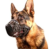 Basket Cage Dog Muzzle Size 5 - LARGE - Adjustable Straps - BLACK, by Downtown Pet Supply