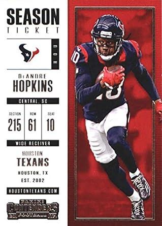 9a5f331ab17 Amazon.com: Football NFL 2017 Contenders Season Ticket #15 DeAndre ...