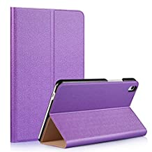Tsmine Huawei MediaPad T2 8 Pro Origami Slim Case - Folding Premium PU Leather Case Magnetic Cover Stand For Huawei MediaPad T2 8 Pro 8-Inch Tablet, Purple