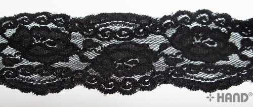 HAND NO.8016 Stretch Lace, 55mmW -10 meters (black) ()