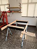KASTFORCE KF3003 Folding Sawhorse Jobsite Table