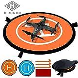 Drones Landing Pad, HQQNUO Universal Waterproof D 75cm/30'' Portable Foldable Landing Pads, Universal Fast-fold Double Sided Landing Pads For RC Drones Helicopter, Quadcopters, Drones Helicopters