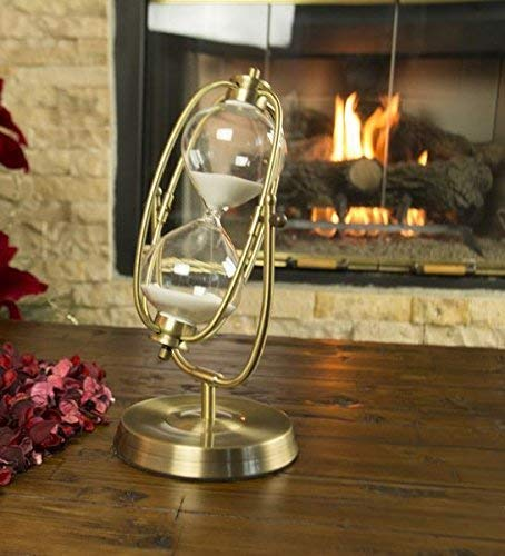 Oh! Trendy Decorative Modern 60 Minute Hourglass - 12.5 in Bronze Hourglass Timer