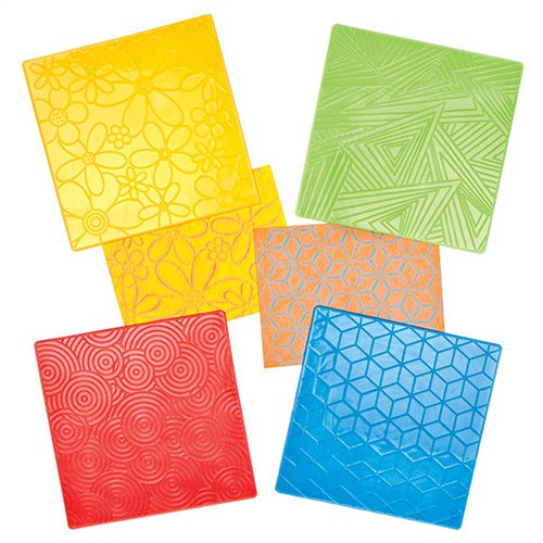 (Baker Ross Floral & Geometrical Pattern Rubbing Plates to Create Decorate Embellish Crafts Cards and Collages (Pack of 4) )