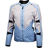 ScorpionExo Dominion Women's Textile Adventure Touring Motorcycle Jacket (Grey/Blue, Large)