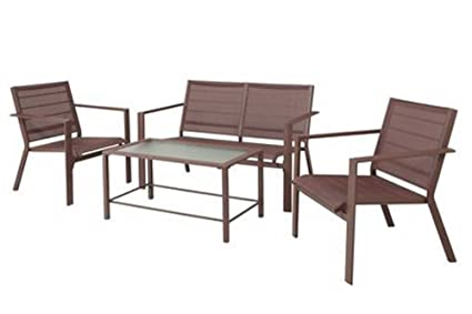 Clifton 4-Piece Brown Sling Patio Furniture Conversation Set - Amazon.com : Clifton 4-Piece Brown Sling Patio Furniture