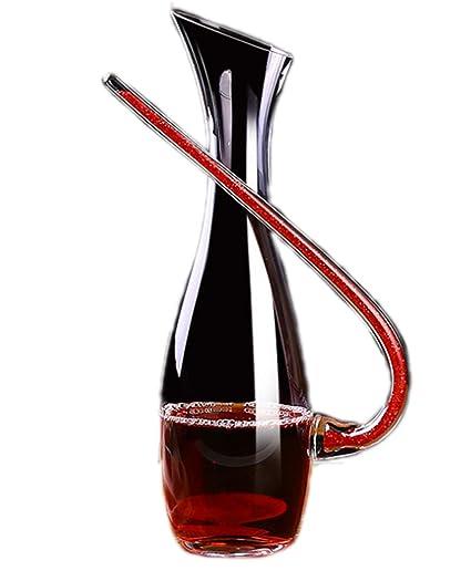 JASNO Wine Decanter - Vidrio Soplado A Mano Sin Plomo, 1.2L Classic Wine Garrafa