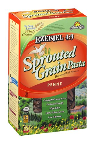 Food For Life Ezekiel 4:9 Organic Sprouted Grain Pasta, Penne, 16-Ounce Boxes (Pack of 6) ( Value Bulk Multi-pack) by Food for Life
