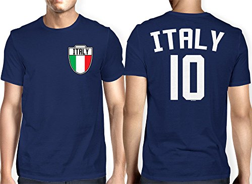 Mens Italia Italian Football T shirt
