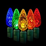 100T/35ft Indoor Outdoor Christmas Light/LED String Light (Strawberry/Multicolor)