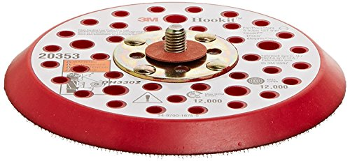- 3M Hookit Clean Sanding Low Profile Disc Pad 20353, Hook and Loop Attachment, 5