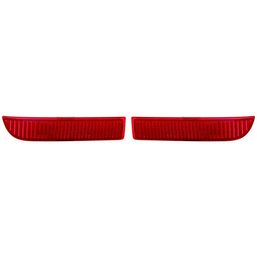 Fits Toyota RAV4 2006-12/SC xD 2008-2014 Rear Reflector Pair Driver and Passenger Side (CAPA Certified) TO2830102, TO2831102 by Carlights360