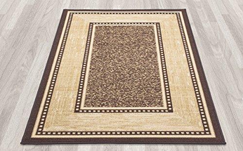 ottomanson ottohome collection contemporary bordered design modern area rug with non skid non. Black Bedroom Furniture Sets. Home Design Ideas