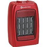 Comfort Zone Ceramic Heater in Red