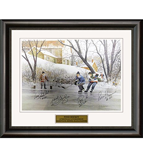 Sports Open Edition Print (Pond Hockey Open Edition Print Signed by 4 Players)