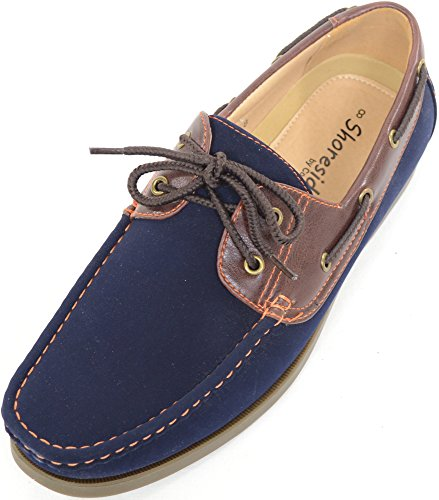 Mens Smart/Casual/Summer Lace Up Boat/Deck Shoes/Loafers-Navy/Brown 5Y0aiILl