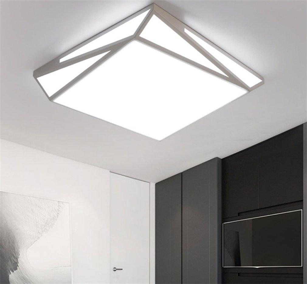 MOQJ Geometrie führte Deckenleuchte Wohnzimmer modernen minimalistischen Nordic rechteckigen Schlafzimmer Lampe Schmiedeeisen (45  45cm)
