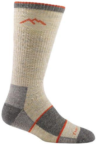 Darn Tough Vermont Men's Merino Wool Boot Full Cushion Socks, Oatmeal, Medium 8-9.5