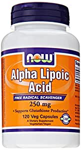 NOW Foods Alpha Lipoic Acid 250mg, 120 Vcaps