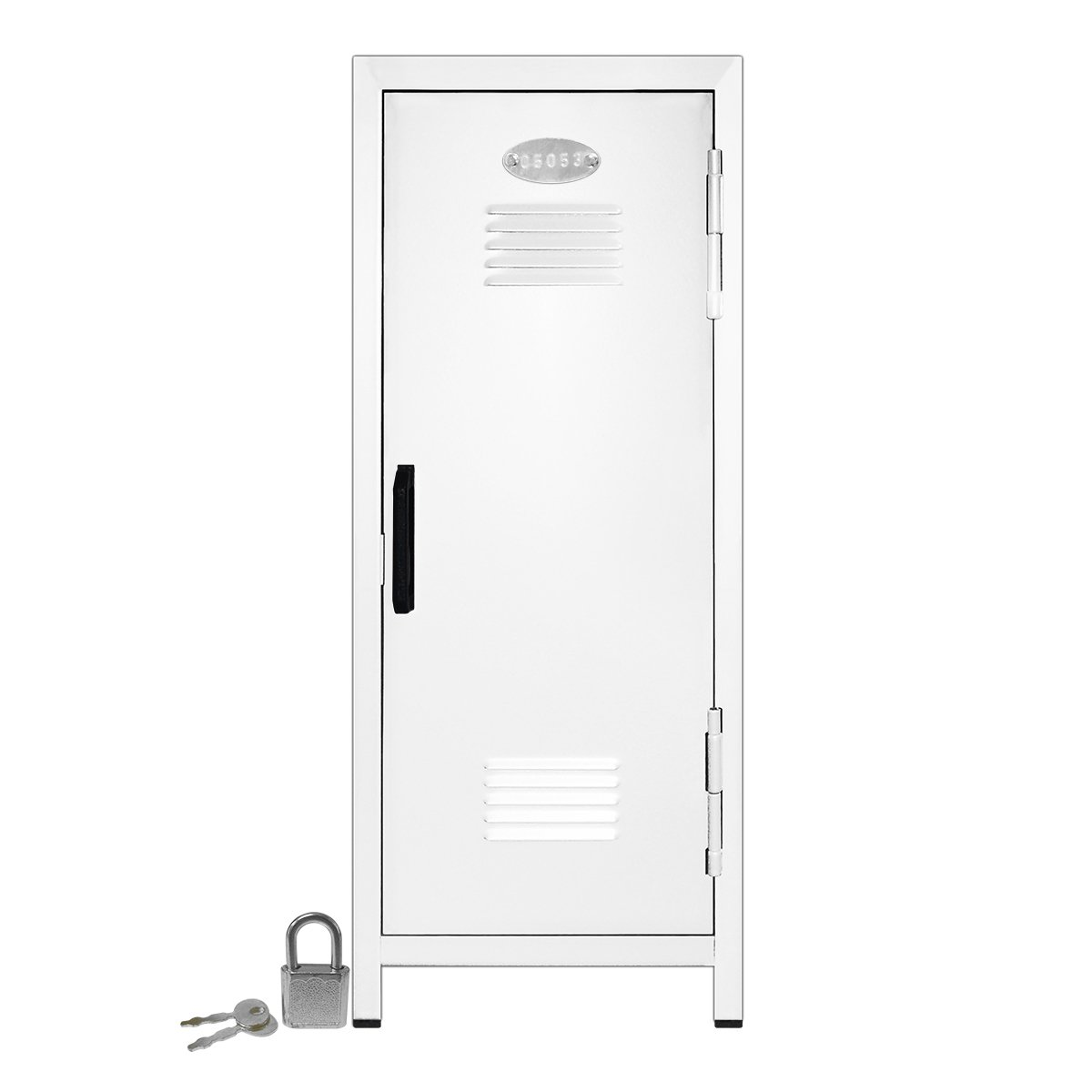 Mini Locker with Lock and Key White -10.75'' Tall x 4.125'' x 4.125'' by Mini Lockers by Magnetic Impressions
