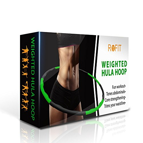 ROFIT Weighted Hula Hoop for Exercise | Weight Loss | Cardio and Strength Workout | Fat Burning | Fitness Hula Hoops for Adults by ROFIT