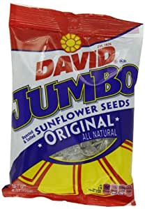 David Orignal Jumbo Sunflower Seeds, 6-Ounce Bags (Pack of 10)