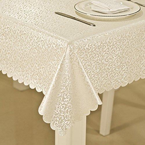 Nappe de table Nappe rectangulaire Imperméable à l'eau Tissu à déglaçage à l'éponge Tissu en Tissu Massif Tissu à café (Couleur    -11, Taille   140  140CM)