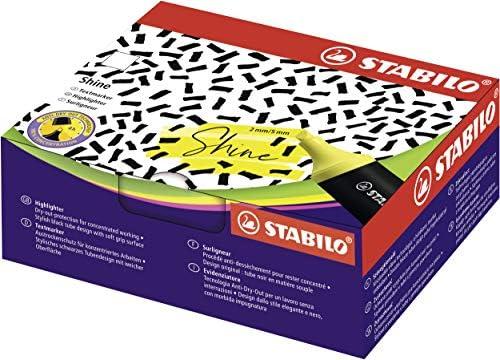 Textmarker im Tubendesign - STABILO Shine - 4er pack - gelb, orange, grün, pink