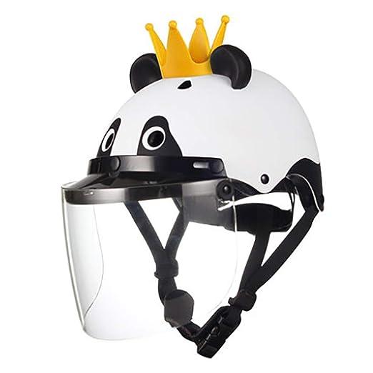 SRUN Casco Panda Kids Bicicleta Scooter eléctrico/Equilibrio del ...