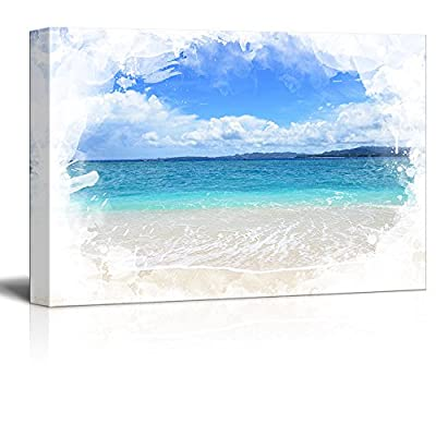 Print Landscape Picture of a Beautiful Beach and Blue Sea 24