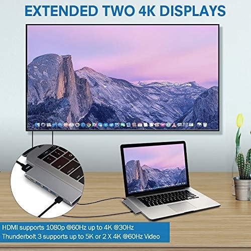 USB C Hub Adapter Dongle for Apple MacBook Pro 20182019 and MacBook Air JoyGeek Type C Adaptor