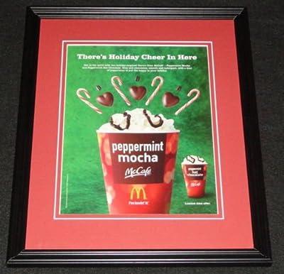 2012 McDonald's McCafe Peppermint Mocha Framed 11x14 ORIGINAL Advertisement